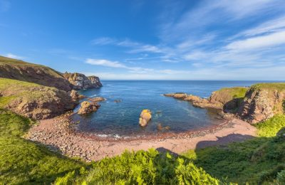 Rocky bay at St Abbs Head seascape, Scotland