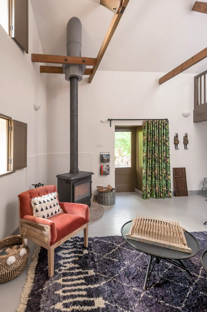 Woodburning stove and quirky interiors