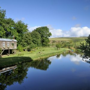 Stilt House glamping at Dod Mill