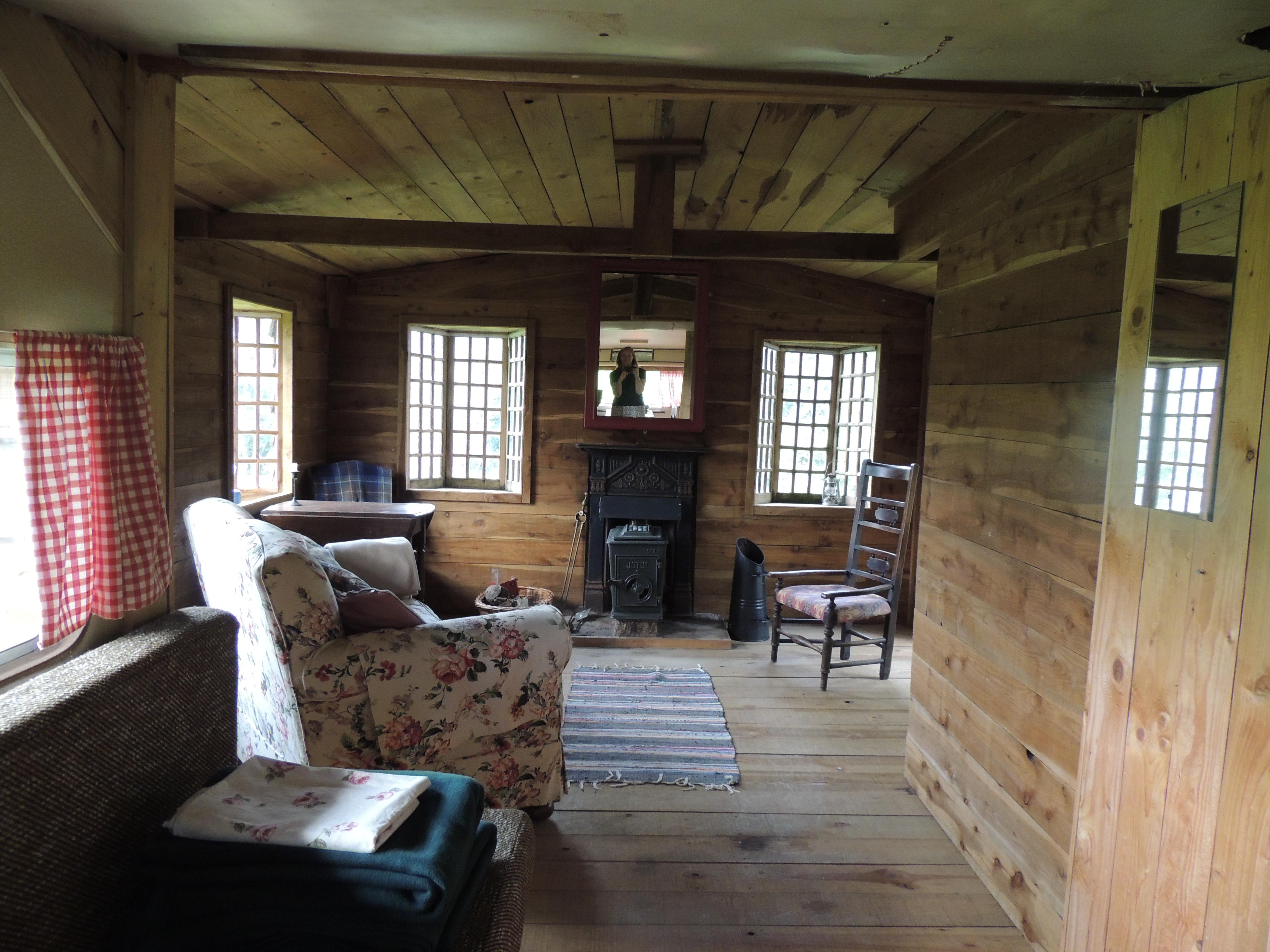 Interior of Fishing hut pre renovations