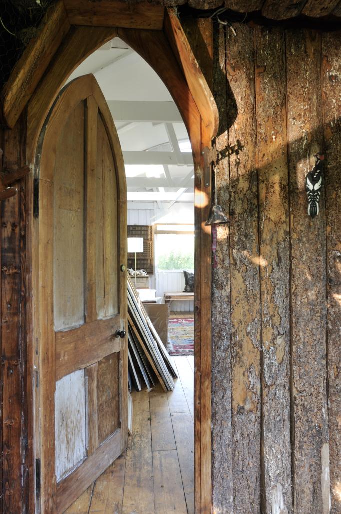 Old Door into Stilt House