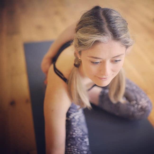 Jen of Lamb Yoga teaches at Dod Mill