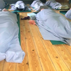 Meditation time at a recent Dod Mill yoga retreat