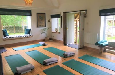All set up for a Yoga Retreat in The Bothy